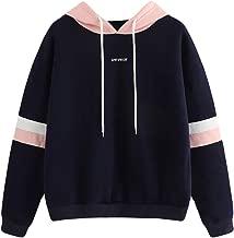 Women Letter Print Jumper Hoodie Long Sleeve Sweatshirt Pullover Tops