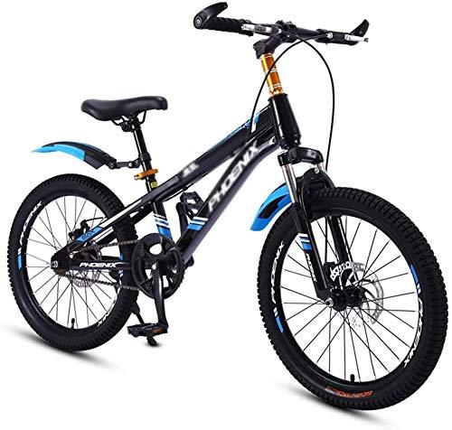GZCC Biciclette 3~15 Anni Ragazzo e Ragazza Bicicletta Studente Bicicletta da Viaggio Estivo Bicicletta in Primavera Auto Sportive per Bambini con Cambio (Colore: Bianco,Dimensioni: 18 Pollici)