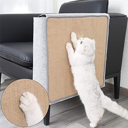 Hete-supply Cat Scratching Mat, Natuurlijke Sisal Sofa Shield Bescherming Cover voor Meubelstoel Stoel, vilten doek+sisal bank schild, kat slijpen klauw Scratcher