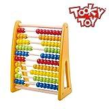 Tooky Toy - Ábaco de colores para contar - Juguete educativo de madera a partir de 18 meses