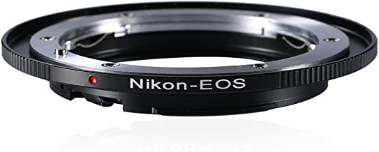 Beschoi Lens Mount Adapter for Nikon Nikkor F Mount AI Lens to Canon EOS (EF, EF-S) Mount DSLR Camera Body