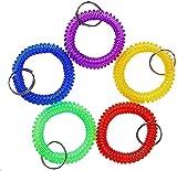 Wrist Coil Wrist Keychain Colorful Stretch Key Chain for Gym, Pool 5pcs