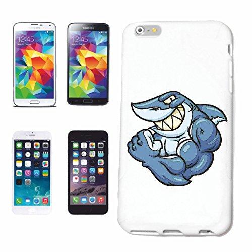 Reifen-Markt Hard Cover - Funda para teléfono móvil Compatible con Apple iPhone 6 Tiburón Tiburón Tiburón Tiburón Ataque Hai Hai Blanco Catshark Sandhai Tiger Shar