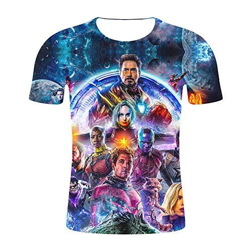 Fang T-Shirt, T-Shirt mit 3D-Druck Kurzarm, Avengers 4 Cosplay Avengers Endgame Kurzarm-T-Shirt