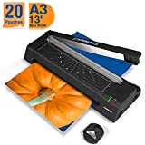 13 inches Laminator Machine, JZBRAIN A3 Laminating Machine with 20 Laminating Pouches,...