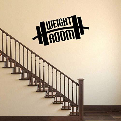 HRUIO Wandsticker Weight Room No Pain No Gain Workout inspirierender PVC-Wandaufkleber 59 x 32 cm