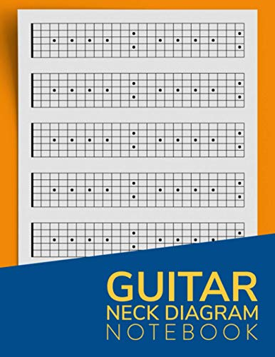 Guitar Neck Diagram Notebook: Guitar Fretboard Diagrams Log Book | Blank Sheet Music Composition Paper | Full 24 Fret Neck Diagrams For Teachers, Students And Musicians
