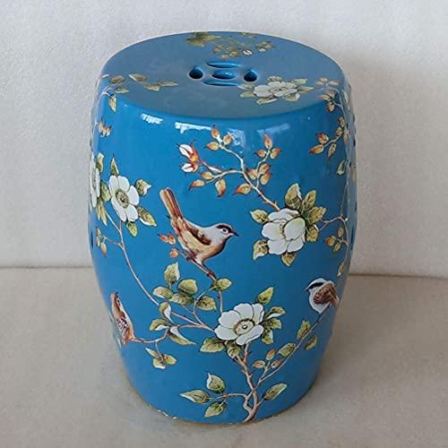 ADSE Taburete de cerámica Hecho a Mano de Alta Temperatura Grueso Artesanal Hotel artesanía Hotel jardín Taburete de cerámica de Porcelana esmaltada de Colores
