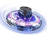 FLYNOVA Fliegendes Spielzeug, Mini-Drohne Flug Spielzeug UFO Drohne Hubschrauber Fliegender Spinner fr Kinder Erwachsene, Mini Flugzeug mit 360 Drehbaren LED-Leuchten fr Indoor Outdoor Geschenke