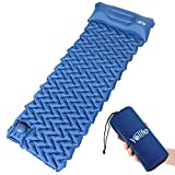 Yolife AirExpect Camping Sleeping Pad with Built-in Pump Upgraded Inflatable Camping Mat
