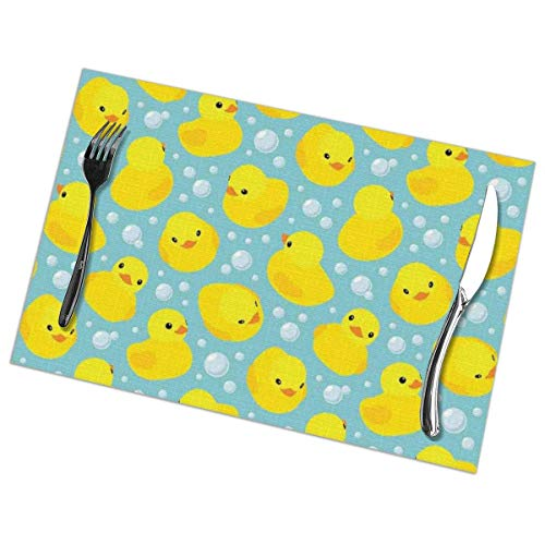 Happy Baby - Manteles individuales de goma de PVC con aislamiento térmico resistente a las manchas para mesa de comedor, cocina, mesa de comedor