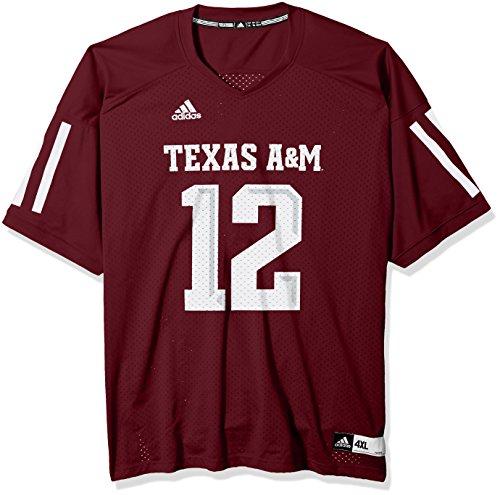 adidas Adult Men NCAA Replica Football Jersey, Maroon, X-Large