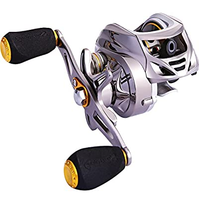 Sougayilang Baitcasting Reel, Stainless Steel Bearings, Super Drag, Magnetic Tuned Dual Brakes Fishing Reel for Bass, Crappies, Perch, Trout, Walleyes and More