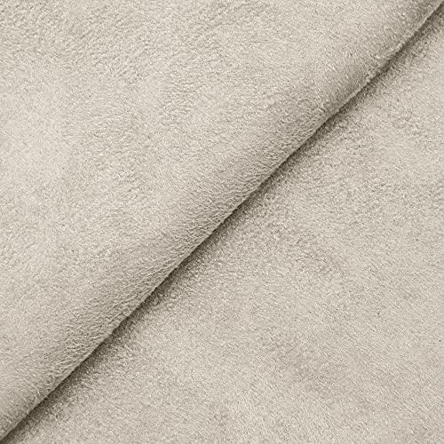 DESHOME Alessia - Tessuto al metro scamosciato in Microfibra Idrorepellente Stoffa per tappezzeria divani, cuscini, complementi d'arredo (Grigio luce, 1 metro)