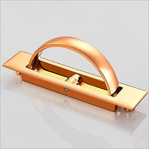 Door Handle Modern Simple Door Handle European Style Drawer Cabinet Door Handle Pastoral Cabinet Antique Wardrobe Black Gold Silver Hardware ( Color : Gold )