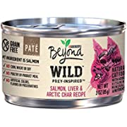 Purina Beyond Grain Free, Natural, High Protein Pate Wet Cat Food, WILD Salmon, Liver & Arctic Char - (12) 3 oz. Cans