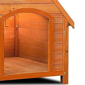 Niche pour chiens avec toit en pente et renforcé- Abri pour chien en bois - 81cm