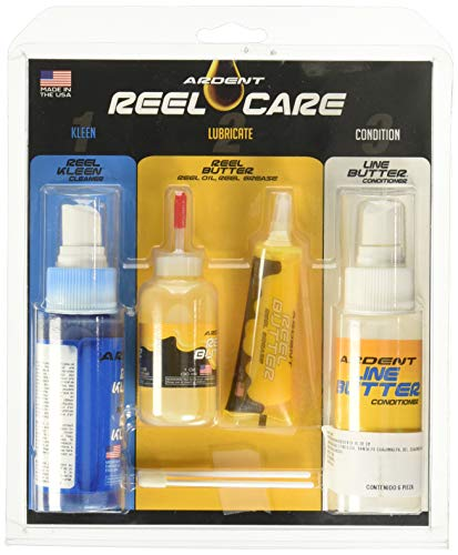 Ardent Reel Care 3 Step Pack for Complete Fishing Reel Maintenance
