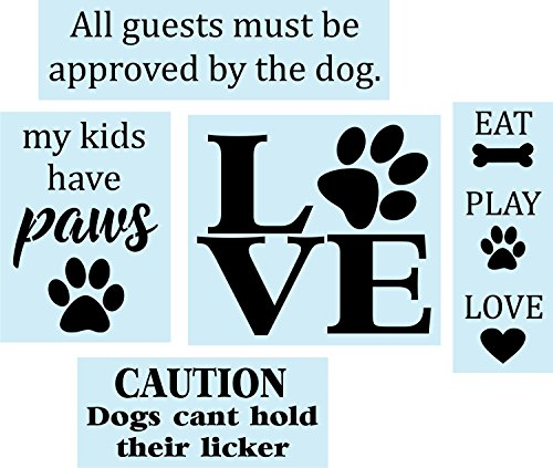 Barn Star Dog Stencil Super Bundle for Painting Wood Signs, Reusable, Sturdy,