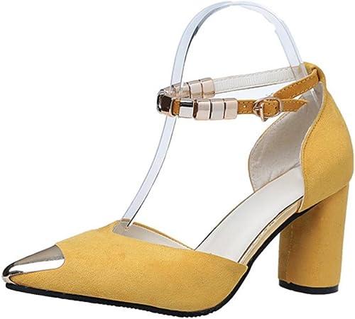 Sandales d'été des sandales Baotou et pantoufles ont fait des sandales à talons hauts avec des chaussures épaisses