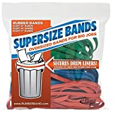 Alliance Rubber 08997 SuperSize Bands, Assorted Large Heavy Duty Latex Rubber Bands - 24 Pack, includes 8 bands of each size (12', 14', 17') in resealable bag