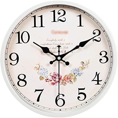 Reloj de pared silencioso moderno minimalista reloj de pared para jardín, sala de estar, dormitorio, hogar, cuarzo, 10/12 pulgadas de diámetro (color: tamaño A: 26 cm) - 26 cm