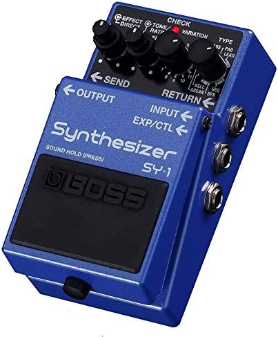 Boss SY 1 Synthesizer Stombox Effects Pedal includes Free Wireless Earbuds Stereo Bluetooth product image
