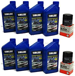 YAMAHA 24' Boat OEM Oil Change Kit - Jet Boat 4W Yamalube w/ 69J-13440-03-00 Filters for 2010+ AR240 SX240 HO/ 242 LIMITED/S/E-SERIES/ 242X/ 212SS/ 212X