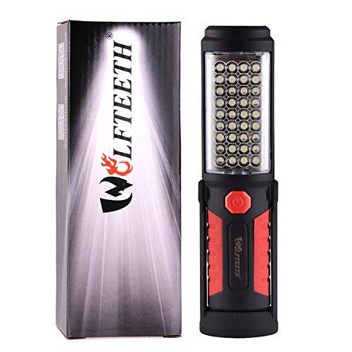 Wolfteeth 36+5 LED luz que acampa manos-libres garaje trabajo linterna Auto Garage emergencias taller con ajuste de soporte con gancho e imán Base 7192