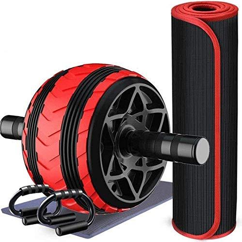 YYhkeby NO Logo Bauchmuskeln Rad Bauchtrainer Ab Roller Männer Startseite Folding Fitness Bauch Mute Bauch Rad for Abs Workout Ab Roller Rad Übungs-Ausrüstung Jialele (Color