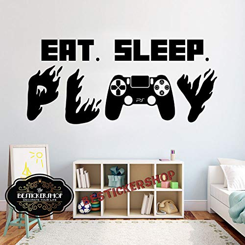 Gamer Ps4 Muursticker Eet Slaap Spelen Muursticker Video Game Muurstickers aangepast voor Kids Slaapkamer Vinyl Wall Art Decals 2648RE