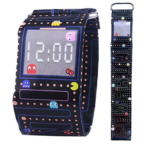 Pavaruni - Papier-Armbanduhr aus wasserdichtem Tyvek-Material - Digitale Anzeige - handgefertigt Familie und Freunde - in Holzbox (Elf)