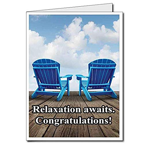 VictoryStore Jumbo Greeting Cards: Giant Retirement Card (Relaxation Awaits), 18 inches x 24 inches Card with Envelope