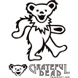 グレイトフルデッドベア GRATEFUL DEAD ステッカー GD DANCING BEAR RUB ON STICKER B WH