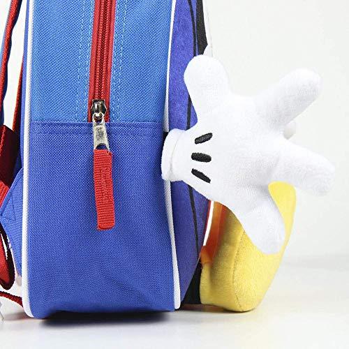 Artesania Cerda Mochila Infantil Personaje Mickey Zainetto per bambini, 31 cm, Blu (Azul)