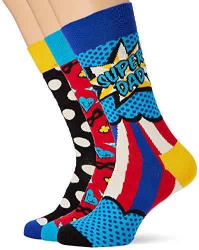 Happy Socks Father's Day Gift Box, 3er-Pack Mehrfarbig, OS Herren 41-46