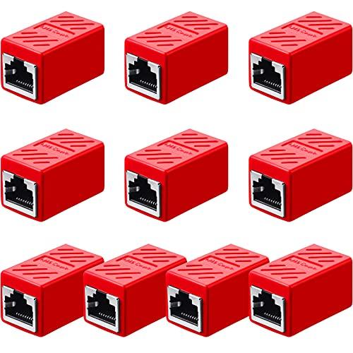 Acoplador RJ45, Adaptador de Extensión Ethernet Conector de Red para Cat7/ Cat6/...