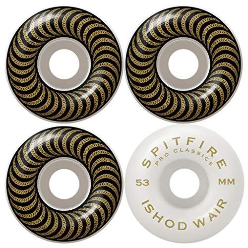 Spitfire Skateboard Wheels 53mm Ishod WAIR Chain Pro Classic 99A