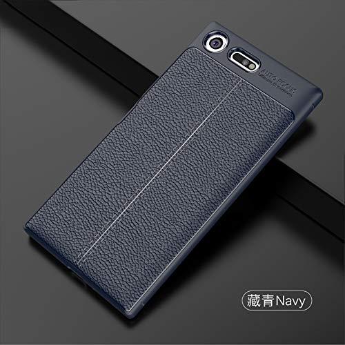 Skhawen 1fortunate Cajas del teléfono para Sony Xperia XZ, Cuero Cubierta de TPU Suave a Prueba de Golpes, Cuero de Lujo, Funda de TPU para Sony Xperia XZ Premium G8141 (Color : Blue)