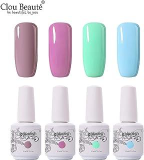 Clou Beaute Soak Off UV Led Nail Gel Polish Kit Varnish Nail Art Manicure Salon Collection Set of 4 Colors 15ml CB-Set29