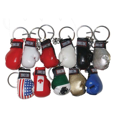 Ringside Small Boxing Glove Key Ring (Red)