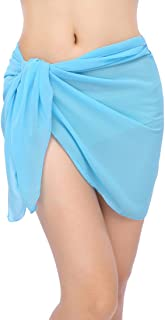 Women's Soft Wrap Beach Swimwear Short/Knee Length/Long Cover Up Pareo Swimsuit Wrap Solid/Patterns