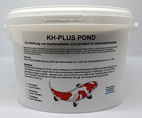 WFW wasserflora 1 kg KH-Plus Pond - erhöht Karbonathärte & stabilisiert pH-Wert, für 40.000 Liter Teich-Wasser