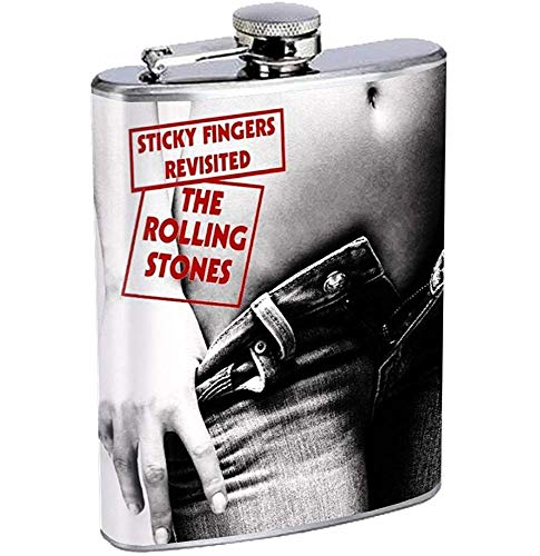 Dedos pegajosos Rolling Stones Frasco de acero inoxidable Beber whisky