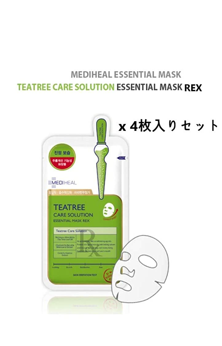 コミット実業家神経障害MEDI HEAL☆Teatree Care Solution essential mask REX(4pcs)☆ メディヒール ティーツリーケア ソルーション エッセンシャルマスクREX(4枚入り) [並行輸入品]