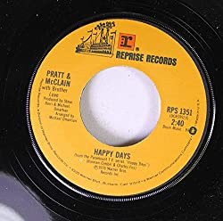 Pratt & McClain with Brother Love 45 RPM Happy Days / Cruisin' With The Fonz