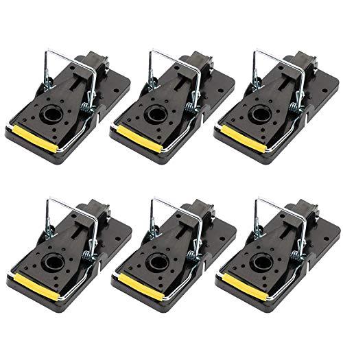 Trampas para Ratones Interior y Exterior Alta sensibilidad Fácil de Establecer Reutilizable, Paquete de 6