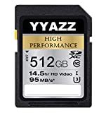 512GB SD Card High Speed Class 10 Flash Memory Cards for Action Cameras (512GB)