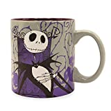 Silver Buffalo Nightmare Before Christmas Jack Skellington Ceramic Mug, 20 Oz, Purple Grey White Black