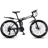 ZTMN Bicicleta de montaña Bicicleta Plegable para Adultos de 26 Pulgadas Bicicleta Plegable de montaña de 21 velocidades